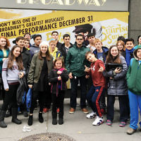 """BCHSJS students traveled to Broadway to see a production of """"Fiddler on the Roof."""" (Courtesy BCHSJS)"""