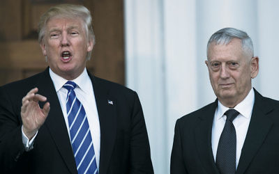 President-elect Donald Trump and retired Gen. James Mattis met at Trump International Golf Club in Bedminster Township. (Drew Angerer/Getty Images)