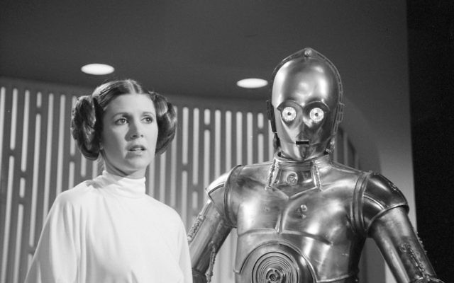 Carrie Fisher as Princess Leia in a photo from Aug. 23, 1978. (CBS via Getty Images)