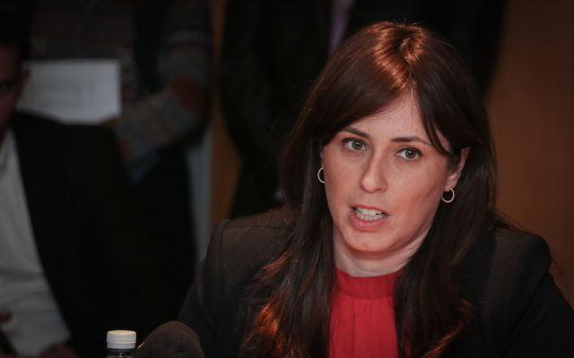 Israel's Deputy Foreign Minister Tzipi Hotovely at a Foreign Affairs and Security Committee meeting at the Foreign Ministry in Jerusalem, July 21, 2015. (Hadas Parush/Flash90)