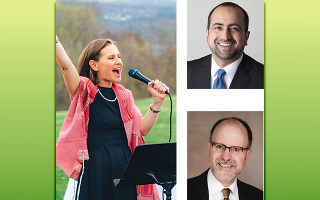 Left, Rabbi Adina Lewittes, top right, Umair Khan, bottom right, Rev. David Horst