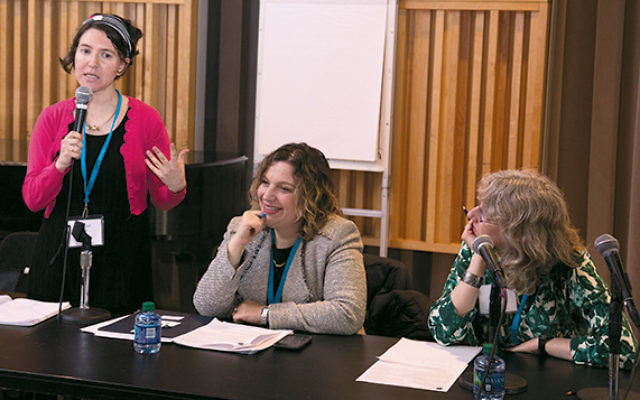 Yedidah Koren, Rabba Yaffa Epstein, and past JOFA president Judy Heicklen of Teaneck