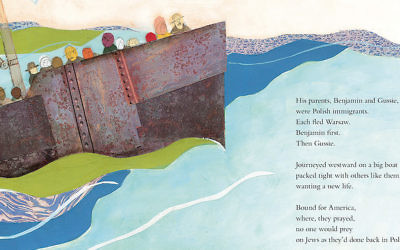 """Text and images from """"A Poem for Peter,"""" a tribute to Ezra Jack Keats by Andrea Davis Pinkney.  (Courtesy of Penguin Random House)"""