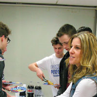 NFTY, the Jewish Reform movement's teen youth group, came to Temple Beth Tikvah in Wayne's religious school to introduce programs to 8th through 12th graders. (Courtesy TBT)
