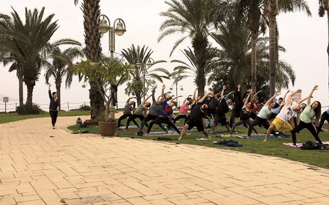 Birthright travelers can pick a trip focused on yoga. (Courtesy of Hillel International )
