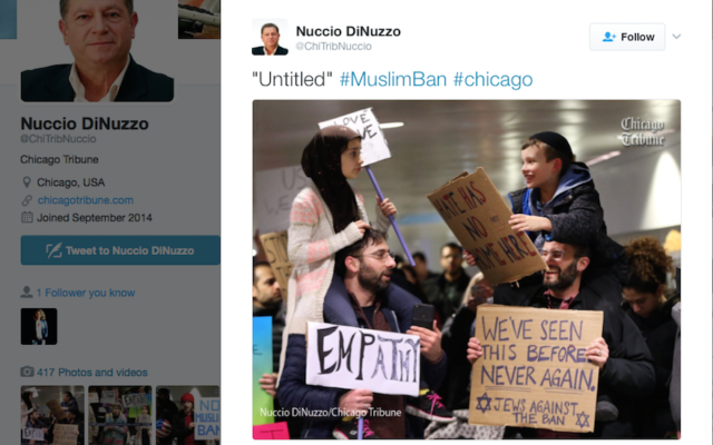 This image of a Muslim girl and Jewish boy has been retweeted over 220,000 times. (Screenshot from Nuccio DiNuzzo/Twitter)