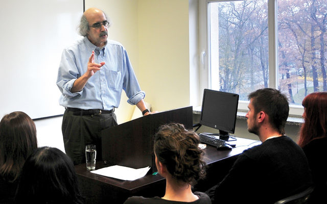Dr. Dennis B. Klein, director of Jewish studies at Kean University, is helping guide the Tzedek Tirdof effort at Congregation Beth Sholom.