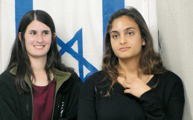 Two students at Mechinat Lapidot, one of two Israeli pre-army preparatory programs for Orthodox girls. (Judy Lash Balint)