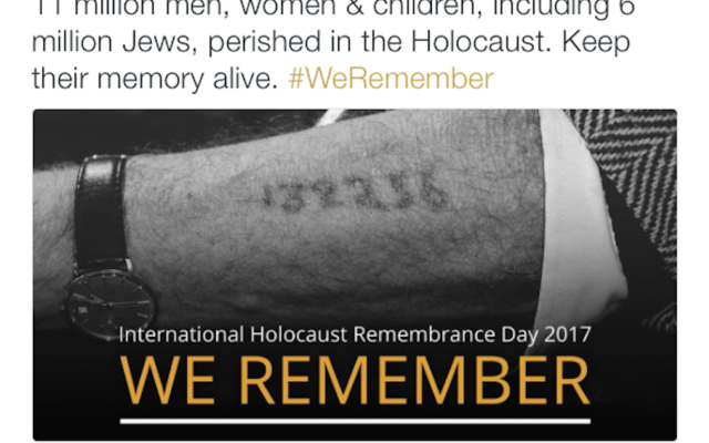 A social media post by the IDF Spokesperson's Unit, marking International Holocaust Remembrance Day, includes a total of Jews and non-Jews killed in the Holocaust that historians say is greatly exaggerated. (Twitter)