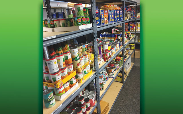The food pantry's stocked for Passover.