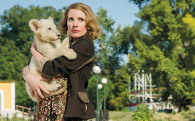 Jessica Chastain plays Antonina, the zookeeper's wife.