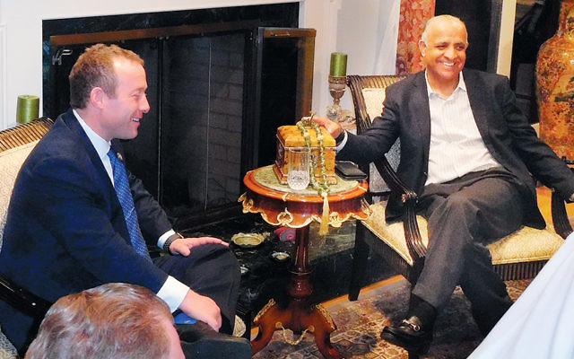 Congressman Josh Gottheimer, left, with Dr. Munr Kazmir. (Courtesy Norpac)
