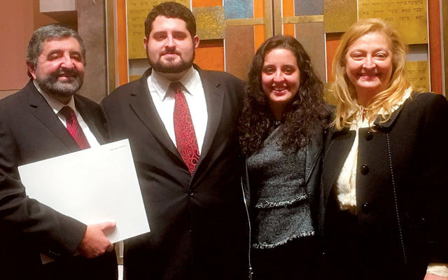 Rabbi Alberto (Baruch) Zeilicovich of Temple Beth Sholom in Fair Lawn, with his wife, Graciela, and children, Daniel and Ruth.