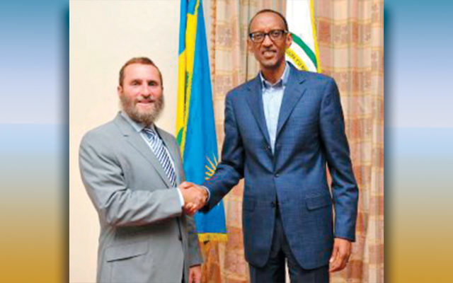Rabbi Shmuley Boteach and Rwanda  President Paul Kagame (Courtesy WVN)