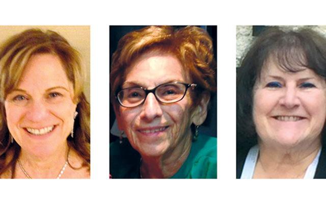 Susan Ecker, left, Mimi Rosenstock, and Fran Satran