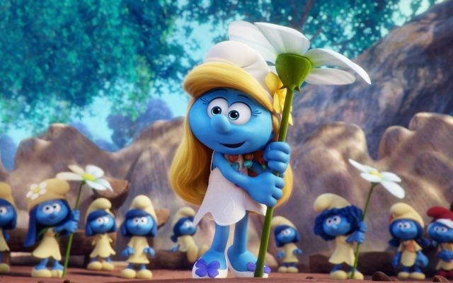 """Smurfette was removed from posters for """"Smurfs: The Lost Village"""" in a haredi Orthodox neighborhood in Israel. (Sony Pictures Animation)"""