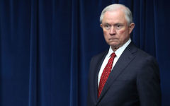 Attorney General Jeff Sessions at a news conference at the U.S. Customs and Borders Protection headquarters in Washington, D.C., March 6, 2017. (Mark Wilson/Getty Images)