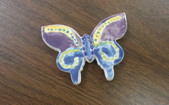 Cheryl Rattner Price, cofounder of the Butterfly Project in River Edge, painted this butterfly.