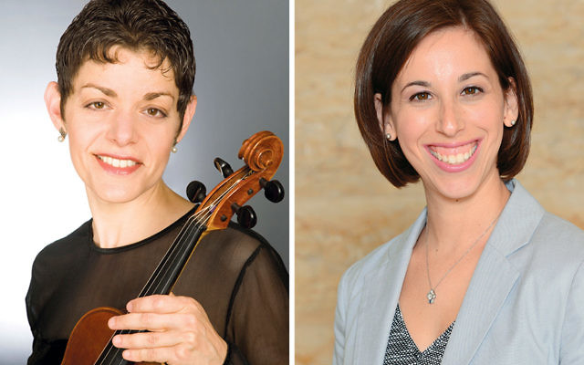 Tamara Freeman, left, and Cantor Sarah Silverberg