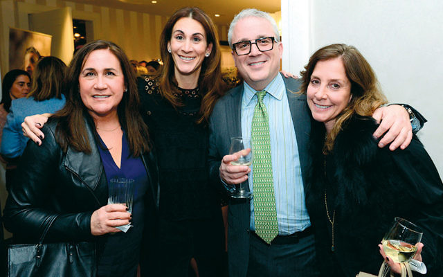 FIDF supporters Elle Rubach, left, and Randi Kollender, right, with FIDF New Jersey co-chairs Jodi and Saul Scherl.