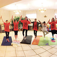 The Friendship Circle of Passaic County held a yoga class led by Shirley Veale for moms and their special needs children. Other classes will be on Sundays, April 23 and May 21, at the Chabad Center of Passaic County in Wayne. (Courtesy FC)