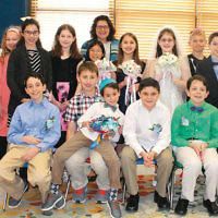 The Glen Rock Jewish Center's gimel class held a mock wedding, complete with chuppah, reception, and the Jewish traditions surrounding a real wedding.  (Courtesy GRJC)