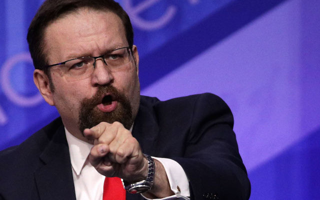 Sebastian Gorka participating in a discussion during the Conservative Political Action Conference in National Harbor, Md., Feb. 24, 2017. (Alex Wong/Getty Images)