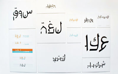 Aravrit has Arabic on the top and Hebrew on the bottom.