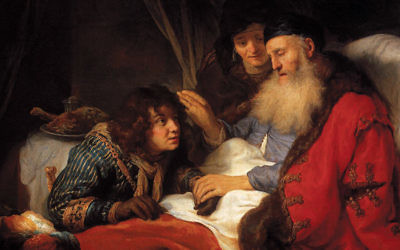 This painting of Isaac blessing Jacob, painted by Govert Flinck in 1638, is in the Rijksmuseum in Amsterdam. (Wikimedia Commons)