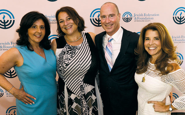 Event chair Bonnie Werk; author Jennifer Weiner; Gary Siepser, CEO of the Jewish Federation and Foundation of Rockland County, and event chair Andrea Weinberger, who also is immediate past president of the Jewish Federation & Foundation of Rockland County.