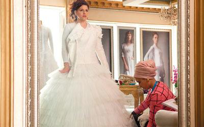 Noa Koler as Michal, in her wedding dress. (Roadside Attractions)