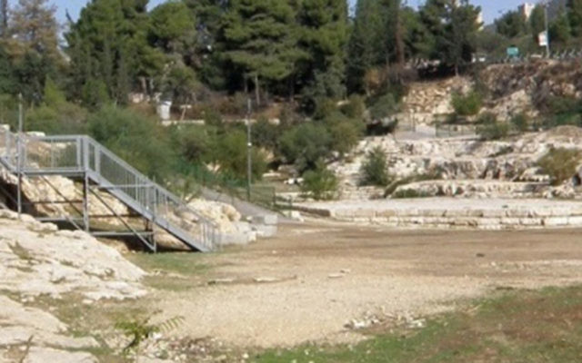 A pool in Jerusalem that pilgrims to the Second Temple used some 2,000 years ago, according to soon-to-be-published research. (Dr. David Gurevich)