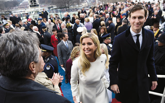 Ivanka Trump and Jared Kushner leave after the presidential inauguration at the U.S. Capitol on January 20. (Saul Loeb/Pool/Getty Images)
