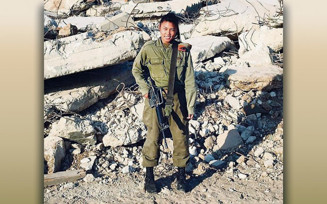"""Staff Sgt. Joana Chris Arpon on Israeli soldiers saving her grandmother in the Philippines: """"I was like, """"Whoa, that's what I want to do.""""  (Courtesy of IDF Spokesperson)"""