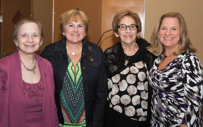 Honorees at the dinner, are from left, Sheila Reiter, Fran Satran, Mimi Rosenstock, and Sue Ecker.(Joanna Labendz Segal)