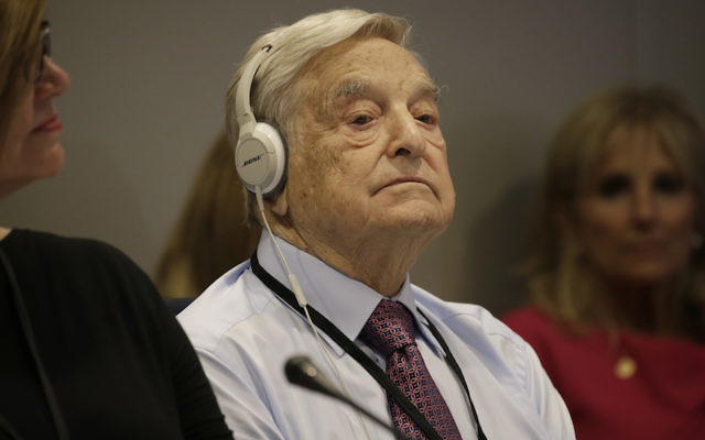 George Soros at the United Nations General Assembly in New York, Sept. 20, 2016. (Peter Foley/Pool/Getty Images)
