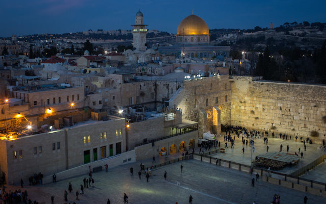 People praying at the Western Wall in the Old City of Jerusalem, Jan. 12, 2017. (Chris McGrath/Getty Images)