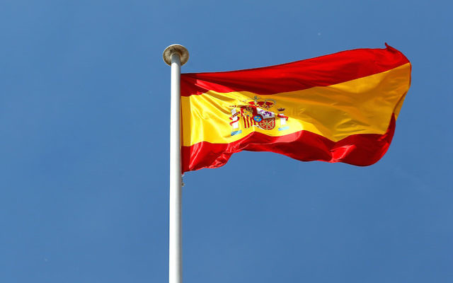 The Spanish national flag flying in Montmelo, Spain. (Paul Gilham/Getty Images)