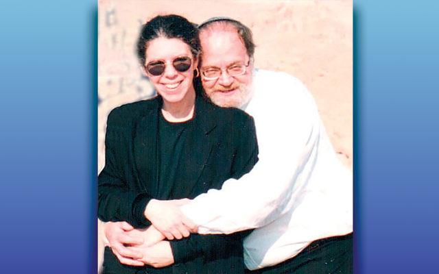 Marilyn Henry and her husband, Rabbi Shammai Engelmayer, on Masada.