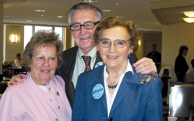 Senate Majority leader Loretta Weinberg of Teaneck, left, with Mike and Elaine Adler.
