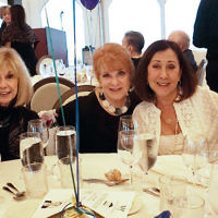 Myrna Block, a member of the Jewish Home Family board; Gayle Gerstein, president of the Jewish Home at Rockleigh; Cynthia Low; and Beth Shiffman, a member of the Jewish Home Assisted Living board, with her husband, Howard