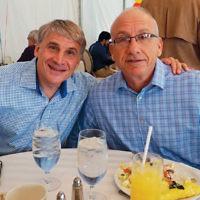 Jeffrey Goldsmith and outing co-chair Warren Feldman