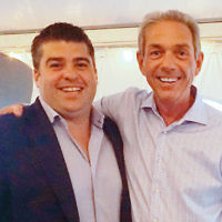 Lou Romano Jr. and outing co-chair Howard Chernin