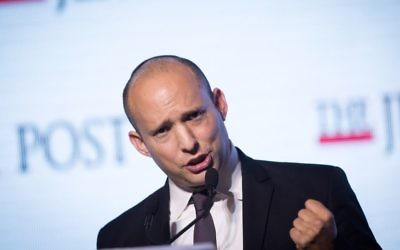 Naftali Bennett is defending his proposed code of ethics for higher education. (Miriam Alster /Flash90)