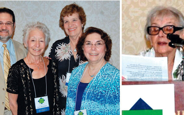 Rabbi Jordan Millstein, left, with co-presidents of the Bergen County Section of the National Council of Jewish Women, from left, Jane Abraham, Elizabeth Halverstam, and Ruth Seitelman. Marcia Levy, right. (Photos courtesy National Council of Jewish Women)