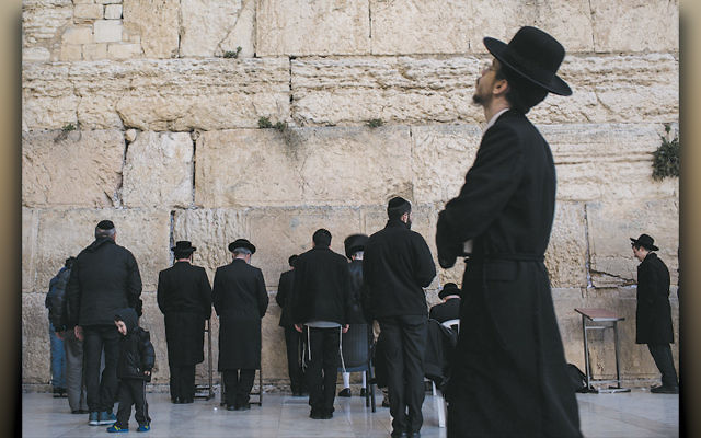 Charedi men pray at the Western Wall in Jerusalem. (Chris McGrath/Getty Images)