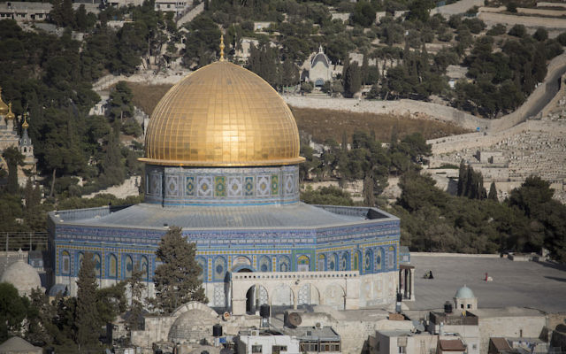 The Temple Mount compound in Jerusalem.(Hadas Parush/Flash90)