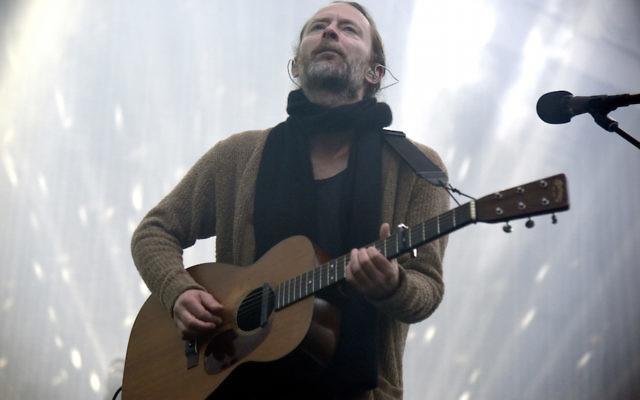 Thom Yorke of Radiohead performing at The Greek Theatre in Berkeley, Calif., April 18, 2017. (Tim Mosenfelder/Getty Images)