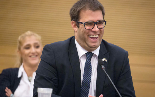Oren Hazan in a calm Knesset moment