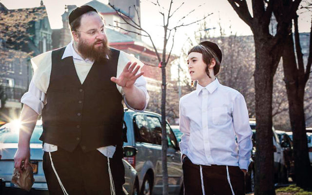 "Menashe Lustig and Ruben Niborski play father and son in ""Menashe."" (Federica Valabrega)"